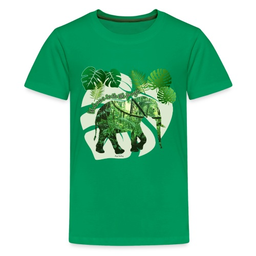 Dschungel - Elefant - Loxodonta cyclotis - Teenager Premium T-Shirt