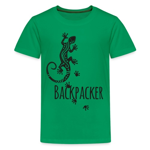 Backpacker - Running Ethno Gecko 1 - Teenager Premium T-Shirt