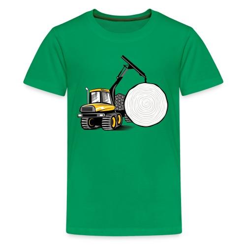 Kuormatraktori t paidat, hupparit, lahjatuotteet - Teinien premium t-paita