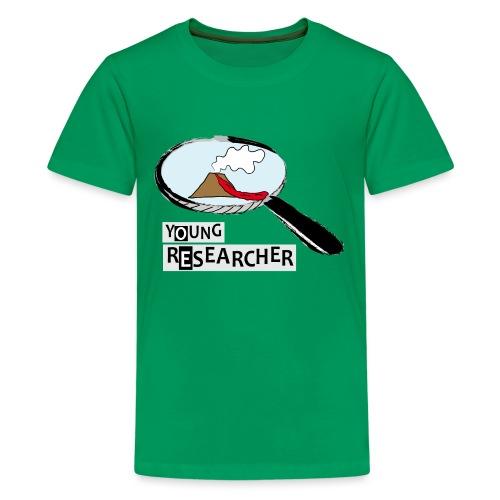 Young Researcher Volcano Wissenschaft - Teenager Premium T-Shirt