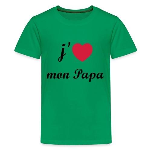 J'aime mon papa - 01 Vecto - T-shirt Premium Ado