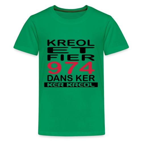 fier et kreol hom 02 ti - T-shirt Premium Ado