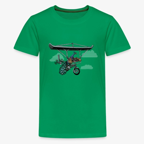 Flight of the Peacock - Teenage Premium T-Shirt