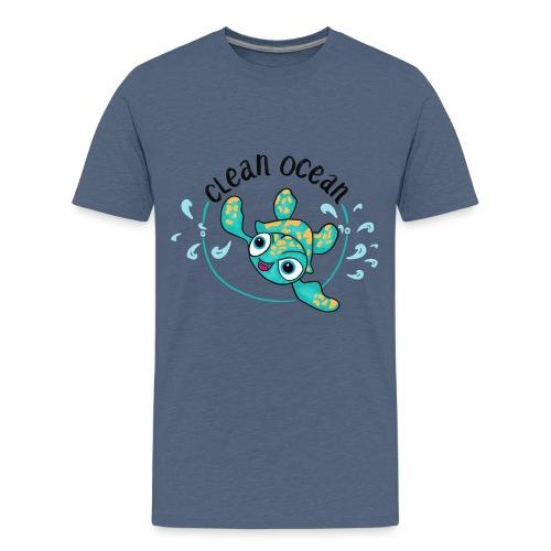 Clean Ocean - Teenage Premium T-Shirt