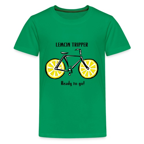 LEMON TRIPPER BICYCLE Textiles and Gifts Products - Teinien premium t-paita