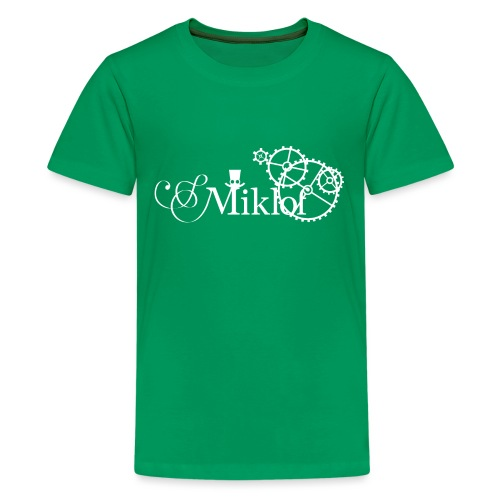 miklof logo white 3000px - Teenage Premium T-Shirt