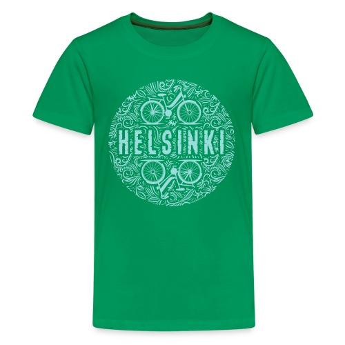HELSINKI BICYCLE LIFE Tekstiilit ja lahja tuotteet - Teinien premium t-paita