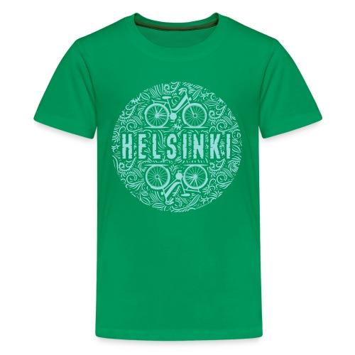 HELSINKI BICYCLE LIFE Textiles, Gifts for You! - Teinien premium t-paita
