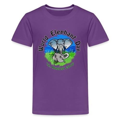 World Elephant Day 2018 - Teenager Premium T-Shirt