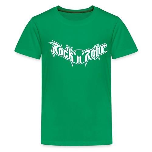 rnr logotype aufschwarz - Teenager Premium T-Shirt