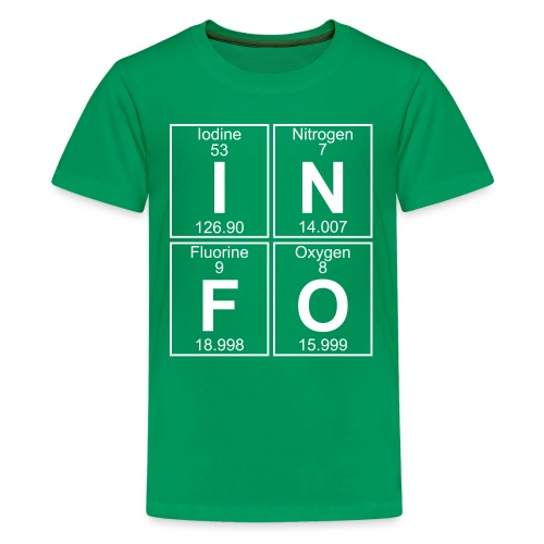 I-N-F-O (info) - Full - Teenage Premium T-Shirt