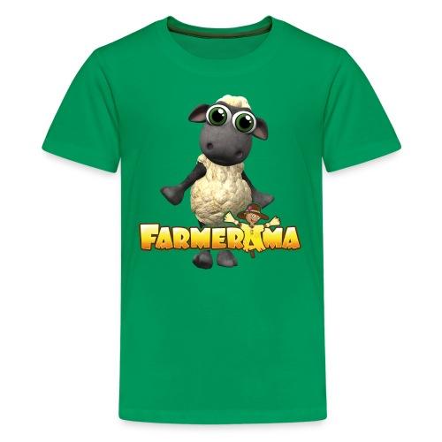 Farmerama Logo mit Schaf - Teenager Premium T-Shirt
