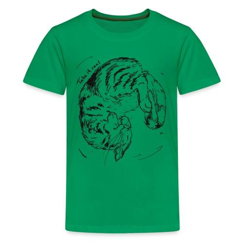 Take it cool BLACK - Teenage Premium T-Shirt