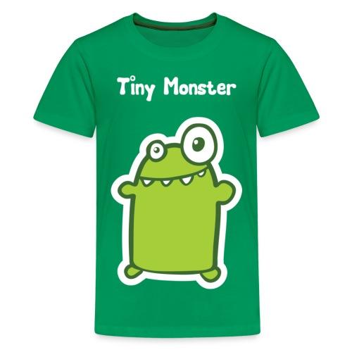 tiny monster with text white - Teenage Premium T-Shirt