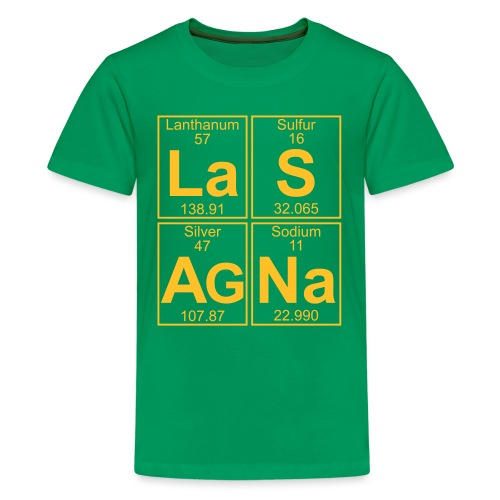 La-S-Ag-Na (lasagna) - Full - Teenage Premium T-Shirt