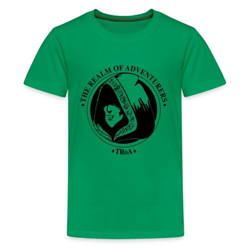 TRoA Logo Sort - Teenager premium T-shirt