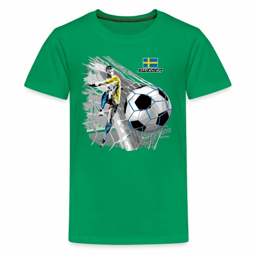 FP22F 16 SWEDEN FOOTBALL - Teinien premium t-paita