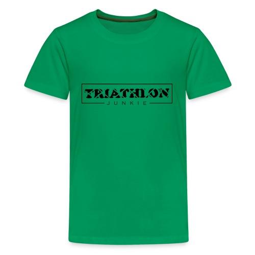 Triathlon Junkie - Teenager Premium T-Shirt