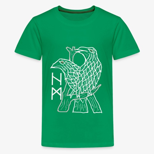 Raben Hugin und Munin - Teenager Premium T-Shirt