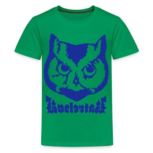 Ugle logo - Premium T-skjorte for tenåringer