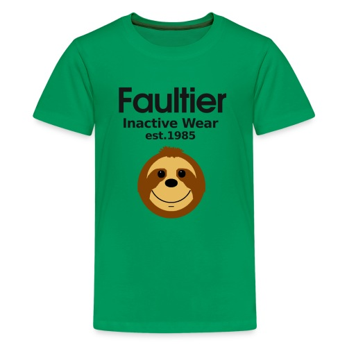 Faultier lustige coole Sprüche Sport Gym Yoga Teen - Teenager Premium T-Shirt