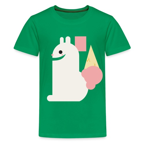 Ice cream bunny - Teenage Premium T-Shirt