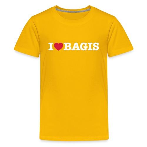 ilovebagis black - Premium-T-shirt tonåring