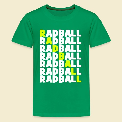 Radball   Diagonal - Teenager Premium T-Shirt