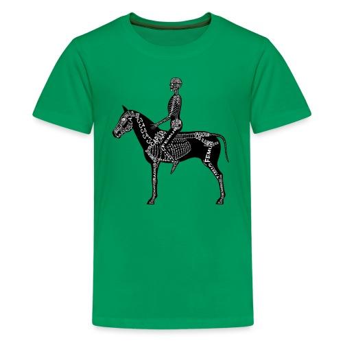 Reiter-Skelett - Premium T-skjorte for tenåringer