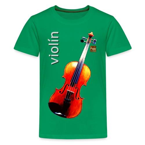 Violín - Camiseta premium adolescente
