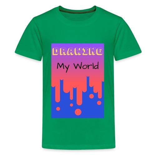 Drawing my world/Dibujando mi mundo - Camiseta premium adolescente