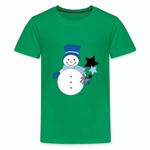 Snowtime-Blue - Teenager Premium T-Shirt