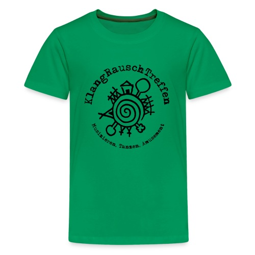 KlangRauschTreffen Logo mit Schrift rund - Teenager Premium T-Shirt
