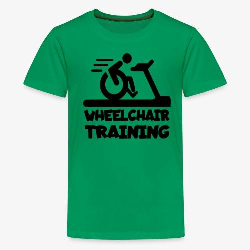Rolstoel training 001 - Teenager Premium T-shirt