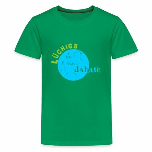 KreisTuerkisgruen - Teenager Premium T-Shirt