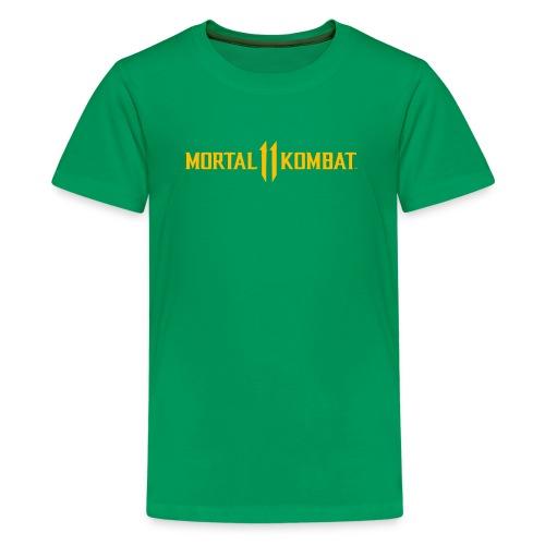 Mortal Kombat 11 logo - Teenage Premium T-Shirt