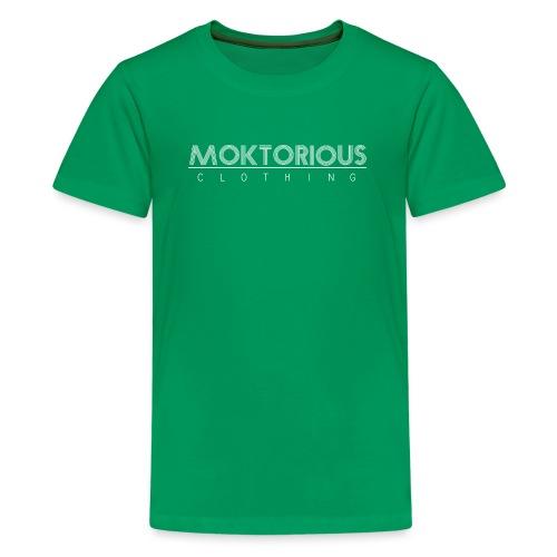 MOKTORIOUS CLOTHING - WHITE - VERTICAL - Teenager Premium T-Shirt