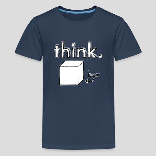 Think Outside The Box Illustration - Teenage Premium T-Shirt