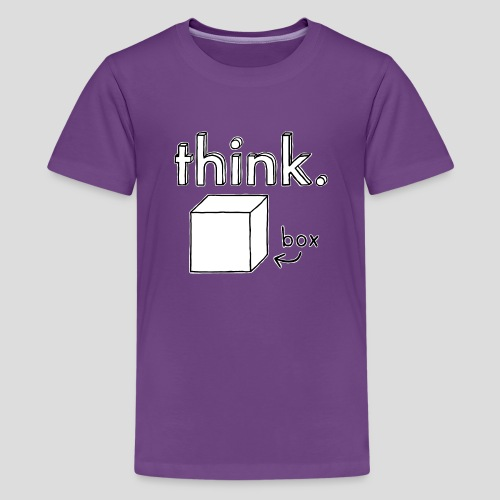 Think Outside The Box Illustration - Teenage Premium T-Shirt