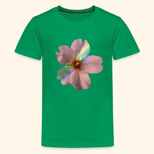 zauberhafte Blüte in coral, Regenbogen - Teenager Premium T-Shirt