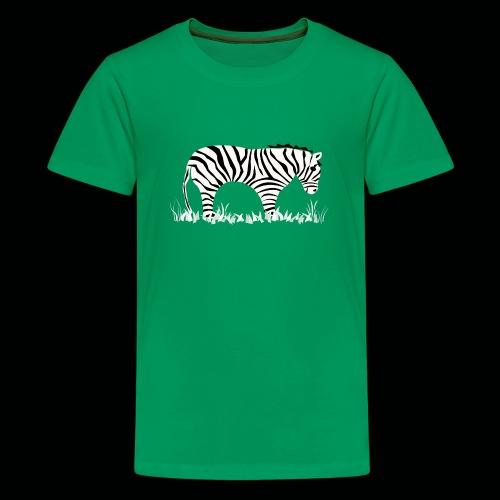 Zebra - Teenager Premium T-Shirt