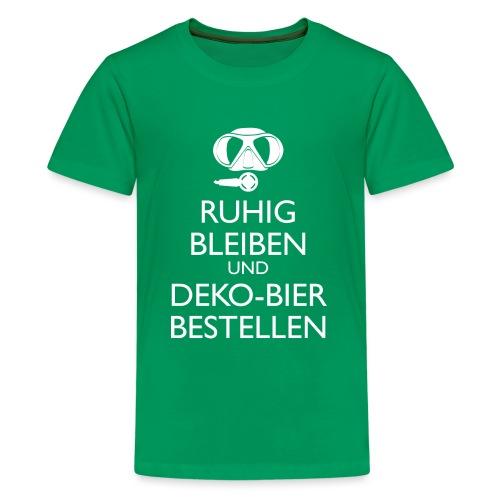 Ruhig bleiben und Deko-Bier bestellen Umhängetasc - Teenager Premium T-Shirt