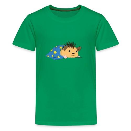 Porcospino che riposa nella copertina (colorato) - Maglietta Premium per ragazzi