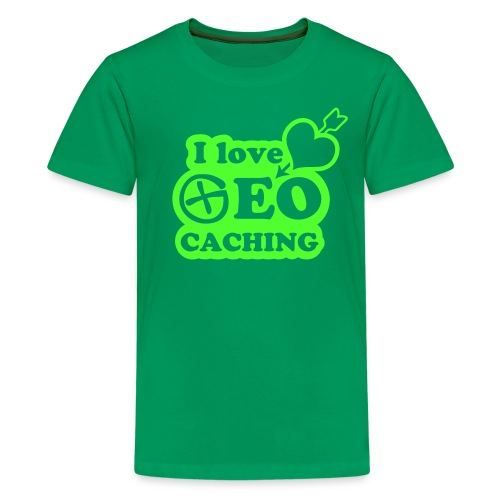 I love Geocaching - 1color - 2011 - Teenager Premium T-Shirt