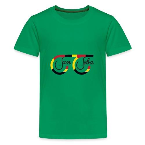 SanSeba - Cycle Junkie Logo - Teenager Premium T-shirt