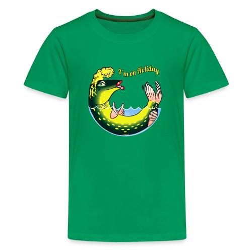 LADY FISH HOLIDAY - Haukileidi lomailee tekstiilit - Teinien premium t-paita