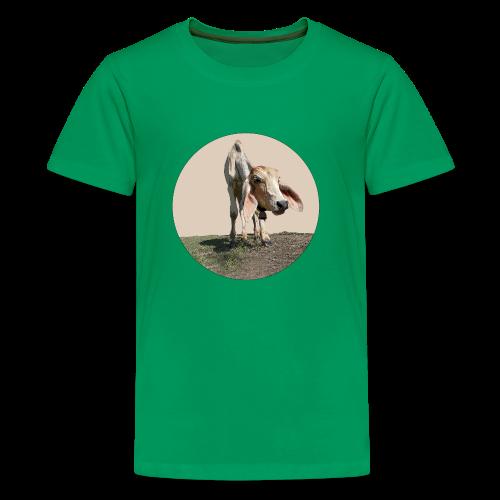 Kuh braun - Teenager Premium T-Shirt