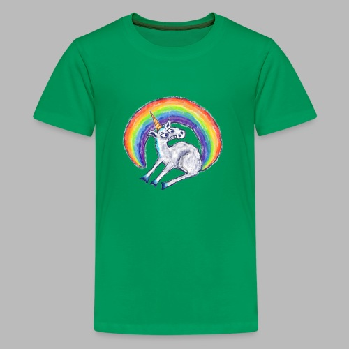 Reluctant Rainbow - Teenage Premium T-Shirt