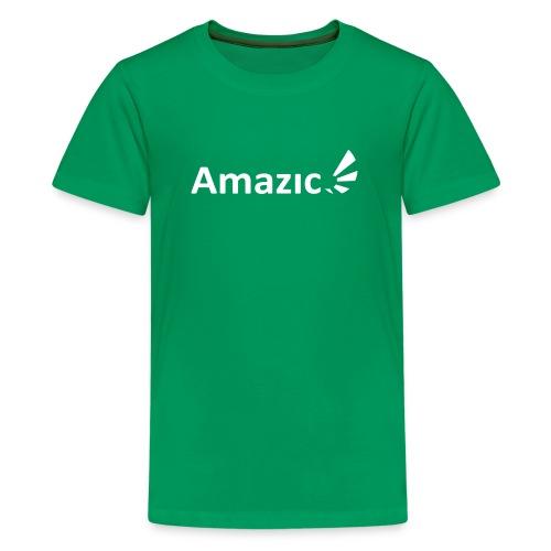 Amazic Logo White - Teenage Premium T-Shirt
