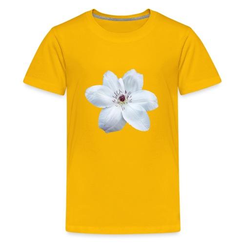 Jalokärhö, valkoinen - Teinien premium t-paita